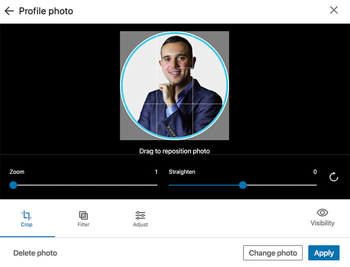 TIP #2: Choose a professional photo for your LinkedIn profile